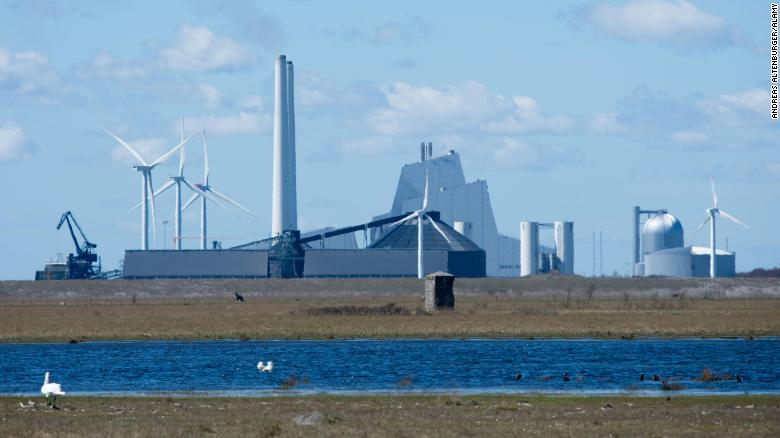 A view of Denmark's Avedore Power Station, which provides district heating to the Copenhagen metropolitan area.