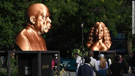 Sculptures by Lewis and Breonna Taylor