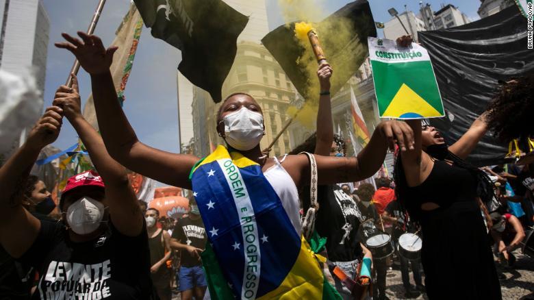 Thousands protest across Brazil calling for President Bolsonaro's impeachment