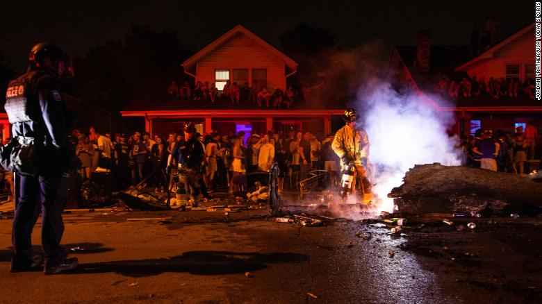 Several fires set, one arrested after University of Kentucky's win over Florida