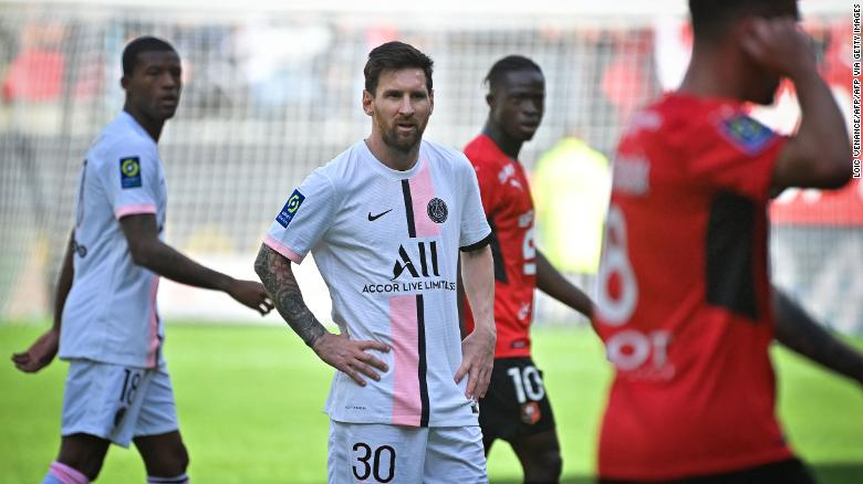 Lionel Messi suffers first defeat as a PSG player as Rennes stages surprise