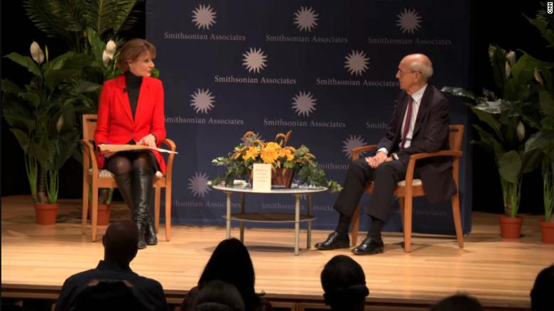 Justice Breyer says return to in-person Supreme Court arguments is a 'big improvement'
