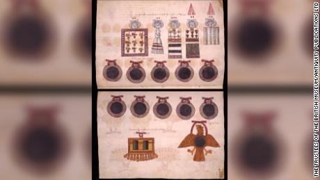 Estas son representaciones aztecas de espejos.