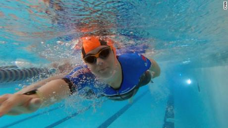 The first leg of an IRONMAN triathlon kicks off with a 2.4-mile swim.