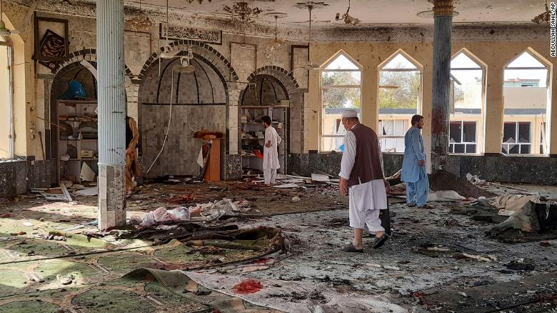 Explosion at mosque in Afghanistan kills at least 20 and wounds dozens