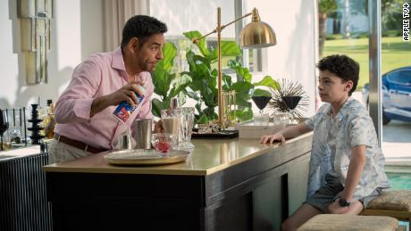 "Eugenio Derbez and Raphael Alejandro in ""Acapulco"" on Apple TV+."