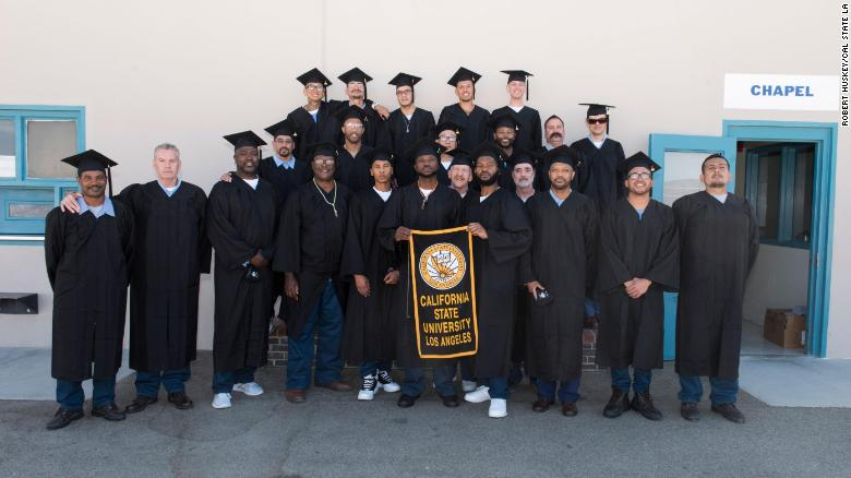 A group of California inmates just earned bachelor's degrees while behind bars