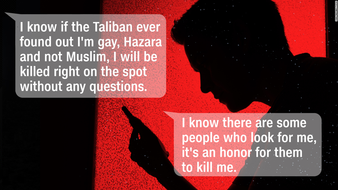 'I'm just trying to survive' A gay man hiding from Taliban sends terrified messages