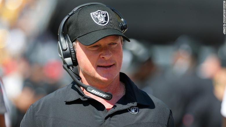 Raiders coach Jon Gruden described head of NFL players union using racially insensitive language in 2011