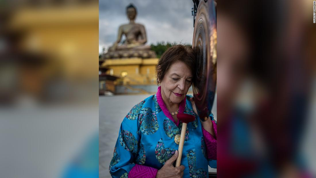 She was chosen to be the only tourist in Bhutan