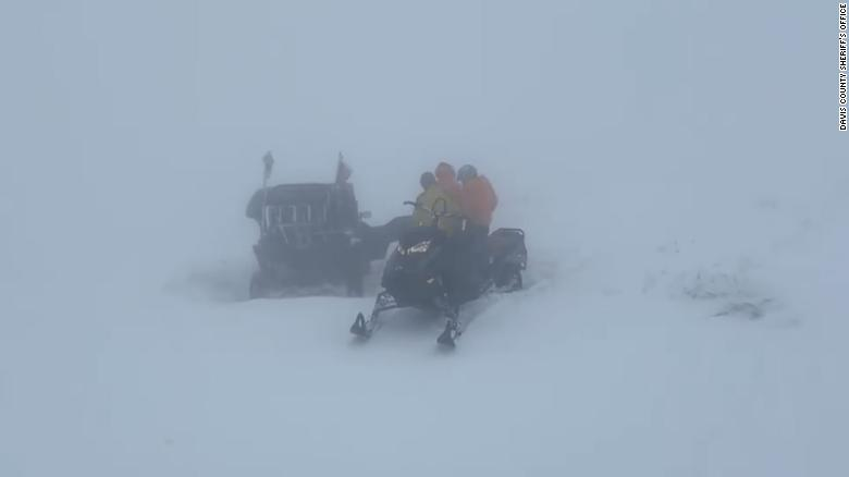 Dozens of runners were rescued from a northern Utah mountain after extreme winter weather