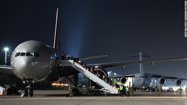 Afghan evacuee flights to the US from Ramstein Air Base in Germany resume