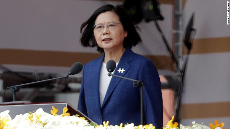 Taiwan won't be forced to bow to China, President Tsai says during National Day celebrations