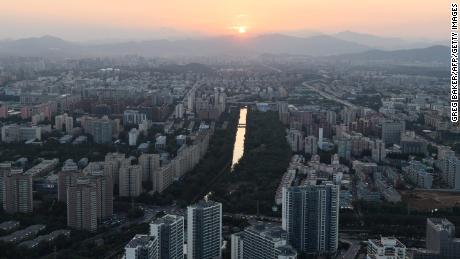 9月17日,北京住宅楼。