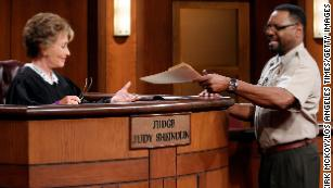 """Petri Hawkins Byrd, seen here on """"Judge Judy"""" in 2011, is one of the most familiar supporting players on daytime TV, although he sometimes says very little."""