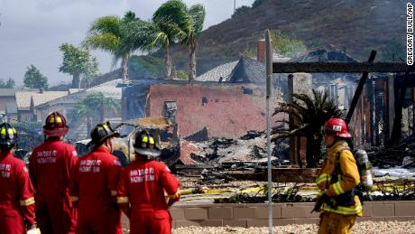 Multiple homes were damaged by the flames from the crash of the Cessna aircraft.
