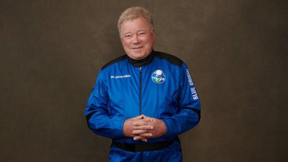 Image for See 'Star Trek' actor William Shatner reach space
