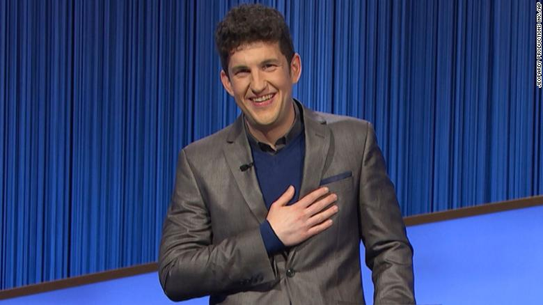 Matt Amodio's 'Jeopardy' winning streak ends after 38 consecutive victories