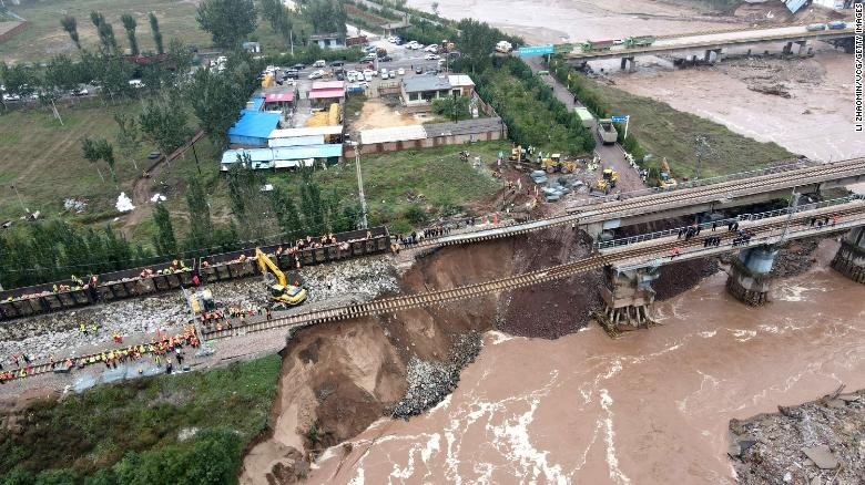 At least 15 dead after heavy rainfall and flooding in northern China