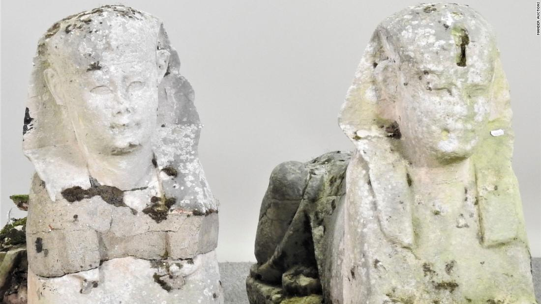 Garden statues turn out to be ancient Egyptian relics