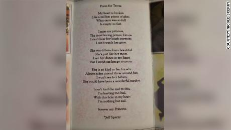 A poem Teresa's father, Jeff, wrote for her funeral pamphlet.
