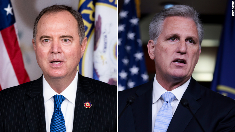Schiff calls House GOP leader Kevin McCarthy an 'insurrectionist in a suit and tie'