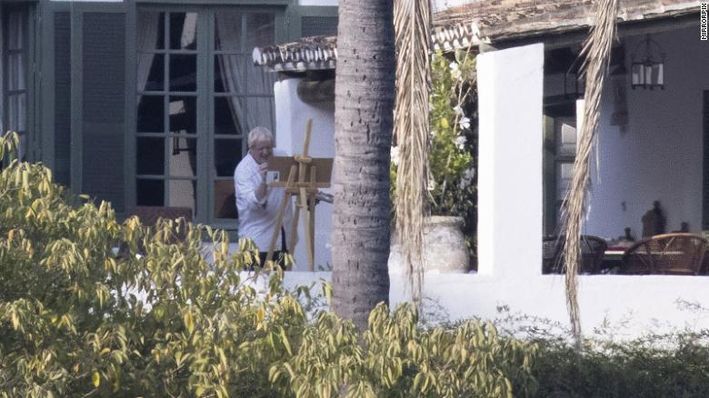 Bereaved relatives of Covid victims slam Boris Johnson after UK Prime Minister pictured painting on vacation