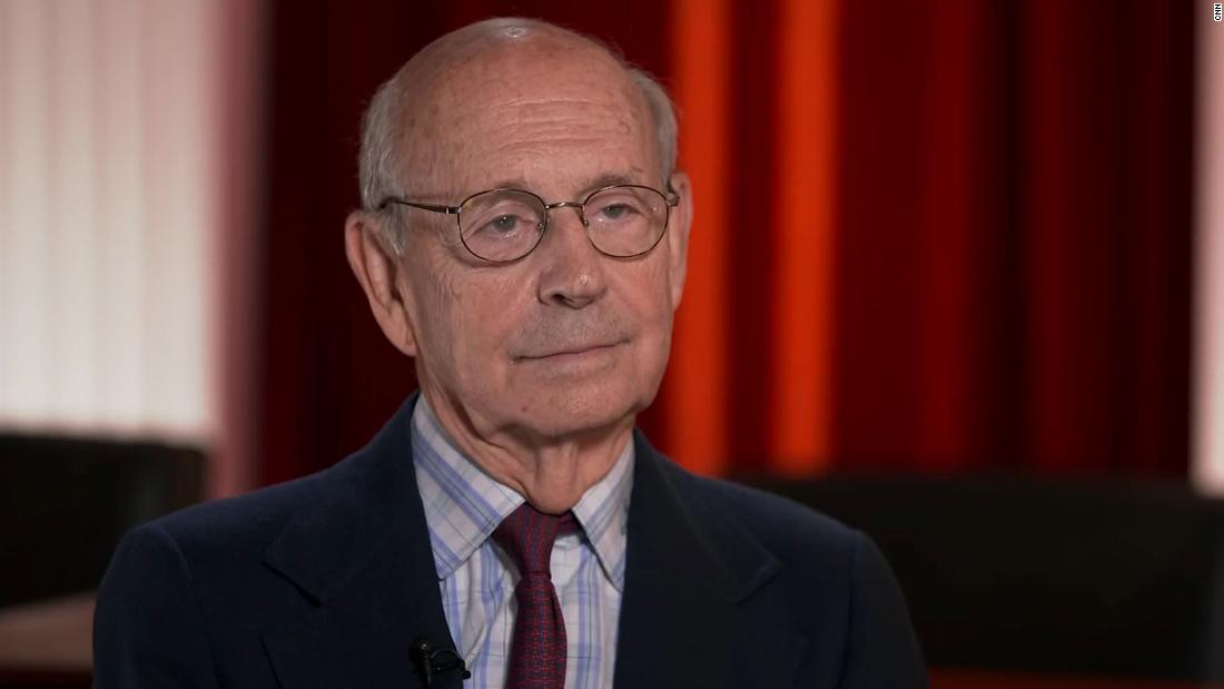 Stephen Breyer says now isn't the time to lose faith in the Supreme Court – CNN