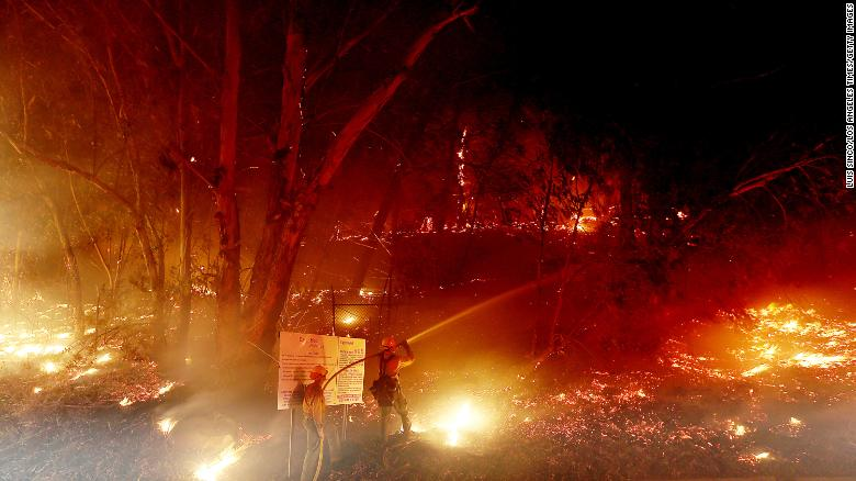 Strong winds fueling California's Alisal Fire have threatened power outages and prompted evacuations