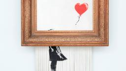 Second sale of Banksy's shredded painting sets staggering new record at .4 million