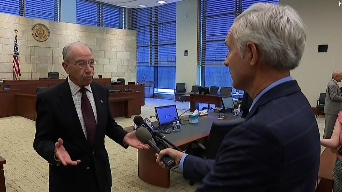 CNN reporter asks Sen. Grassley about his change in opinion on Trump