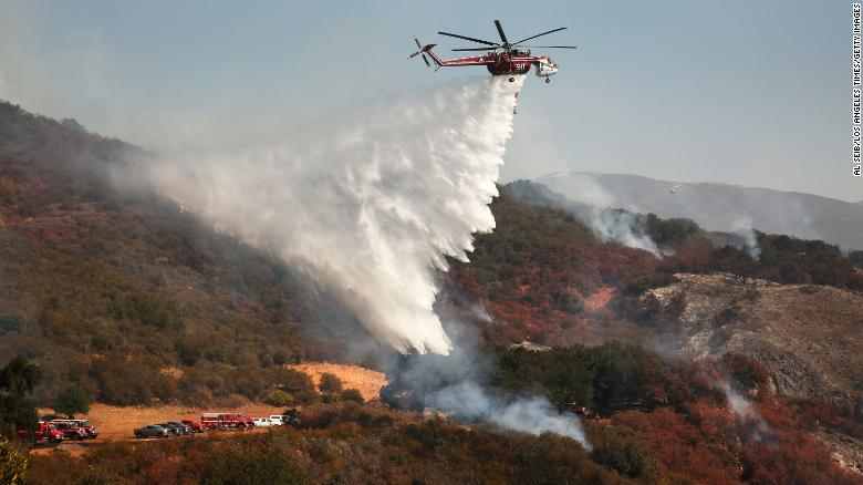 The fast-moving Alisal Fire is approaching the California ranch once owned by Ronald Reagan