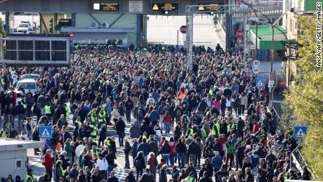 Thousands protest as Italy's Covid pass becomes mandatory for workers
