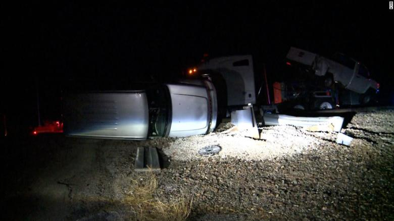 Four train passengers are hurt in Amtrak crash with truck in Oklahoma