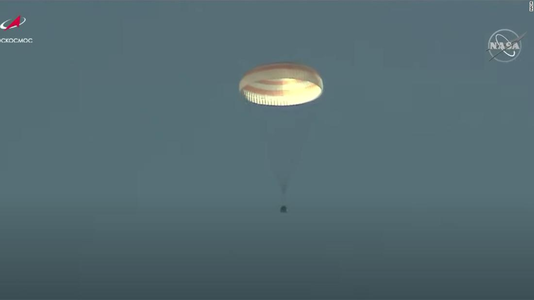 Russian space movie crew back on Earth
