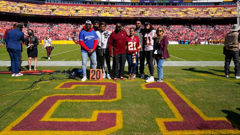 The Washington Football Team is retiring NFL star Sean Taylor's jersey after he was killed 14 years ago