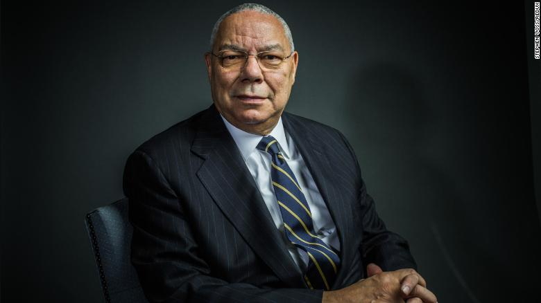 Colin Powell poses for a portrait in 2012.