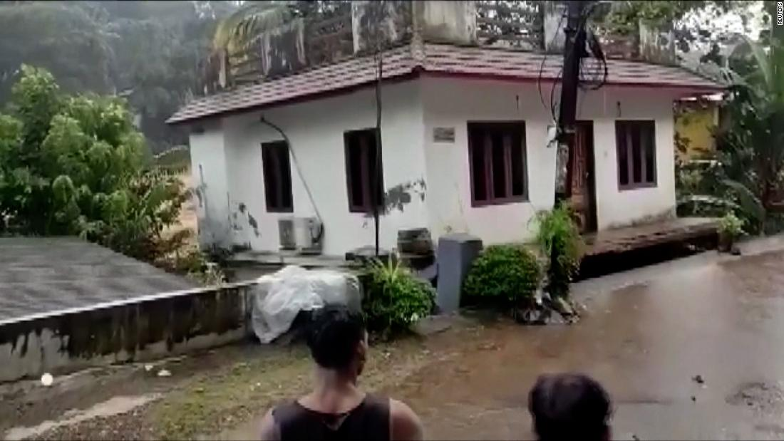 House swept away in dramatic video from India