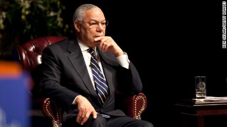 Former Chairman of the Joint Chiefs of staff and Secretary of State Colin Powell attends an event honoring the 20th anniversary of the Persian Gulf War on January 20, 2011 in College Station Texas. The Gulf War was waged against Iraq from August 1990 to February 1991 during President George H. W. Bush's administration.