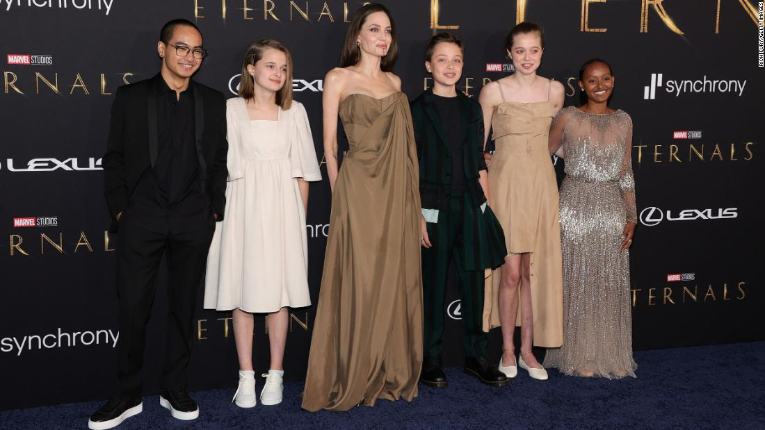Angelina Jolie makes rare appearance with kids on 'Eternals' red carpet