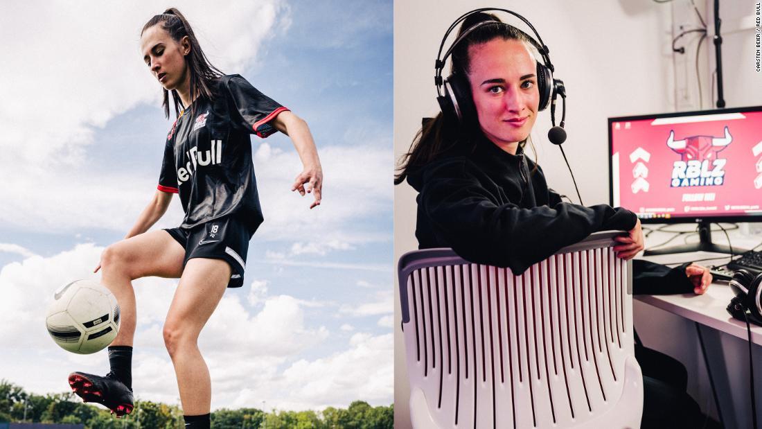 Lena Güldenpfennig: The footballer balancing on pitch duties with esports thumbnail
