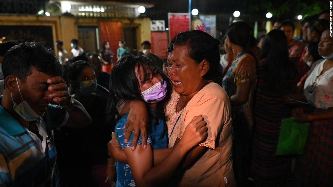 See emotional reunion as Myanmar frees hundreds of anti-coup protesters