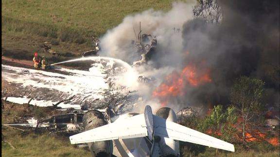 Image for All passengers survive plane crash in Texas