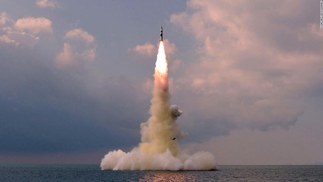 North Korea's state media release images of its submarine-launched ballistic missile