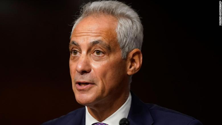 Rahm Emanuel, Biden's nominee to be envoy to Japan, indicates China would be a central focus of the job