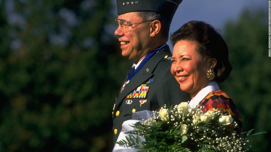 Colin Powell's love story started with an accidental date -- and lasted six decades