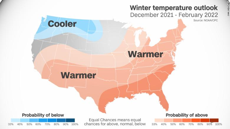 The official forecast calls for a warmer winter, which could be good for your bank account