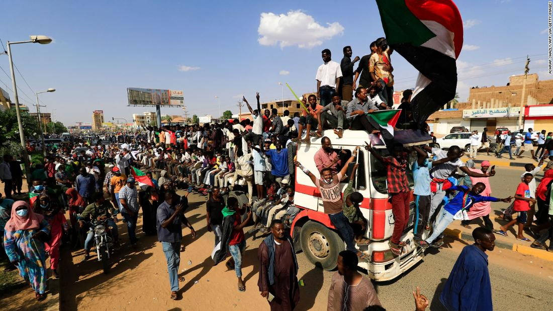 Huge crowds march in Sudan in support of civilian rule