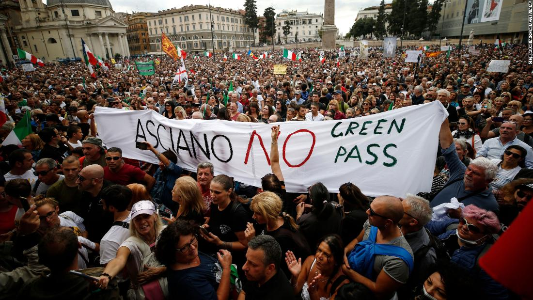 Violence over Italy's strict Covid pass has ignited a national debate about fascism