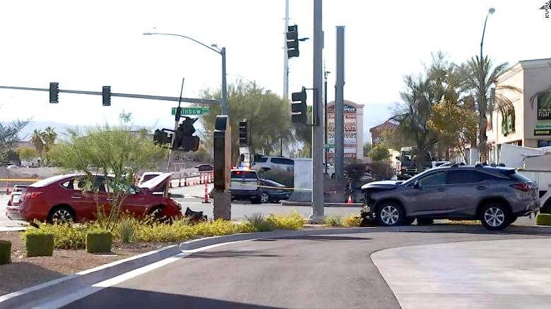 Nevada governor at fault for Sunday's two-car accident in Las Vegas, police say